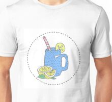 illustration for greeting cards, magazine, cafe and restaurant menu. Fresh smoothies, detox, fruit cocktail for healthy life, diets. A set of quirky cartoon patch badges or fashion pin badges Unisex T-Shirt