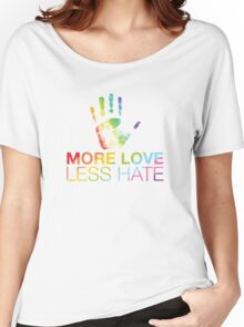 More Love Less Hate, Orlando Pride Women's Relaxed Fit T-Shirt