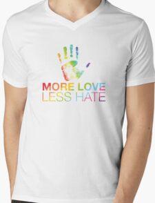 More Love Less Hate, Orlando Pride Mens V-Neck T-Shirt