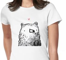 Bear Love Womens Fitted T-Shirt
