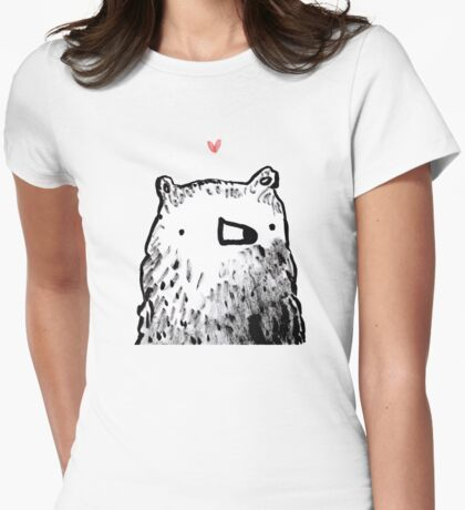 Bear Love Womens Fitted T-Shirt