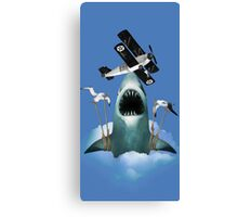Shark Plane Canvas Print