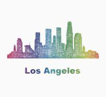 Rainbow Los Angeles skyline One Piece - Long Sleeve