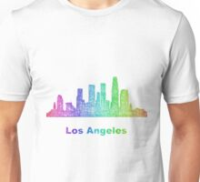 Rainbow Los Angeles skyline Unisex T-Shirt