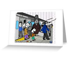 Kindness in public transportation Greeting Card