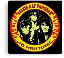 Stevie Ray Vaughan & Double Trouble Colour Canvas Print