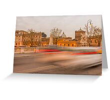 Light trails Greeting Card