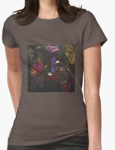 Morphing Foliage Womens Fitted T-Shirt