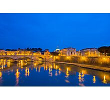 River Tiber and Vatican City Photographic Print