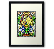 Zelda Wind Waker Stained Glass  Framed Print