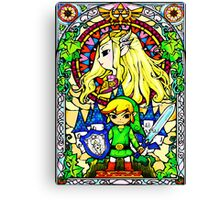 Zelda Wind Waker Stained Glass  Canvas Print