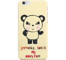Panda angry funny face  iPhone Case/Skin
