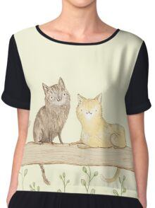 Cats on the Fence Chiffon Top