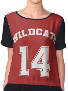 Wildcats 14 Chiffon Top
