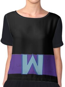 Set to W for Wumbo! Chiffon Top