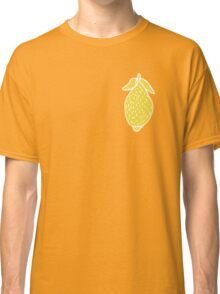 Seamless pattern, beautiful lemons, in a flat style Classic T-Shirt
