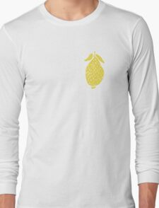 Seamless pattern, beautiful lemons, in a flat style Long Sleeve T-Shirt