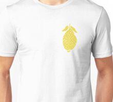 Seamless pattern, beautiful lemons, in a flat style Unisex T-Shirt