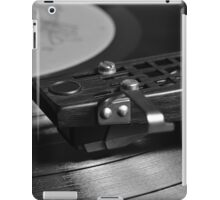 Vinyl record playing on a turntable iPad Case/Skin