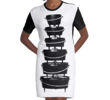 Cast iron dutch oven tower Graphic T-Shirt Dress