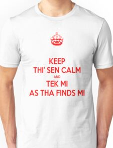 Keep Thi Sen Calm And Tek Me As Tha Finds Me T-Shirt