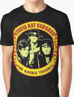 Stevie Ray Vaughan & Double Trouble Colour Graphic T-Shirt
