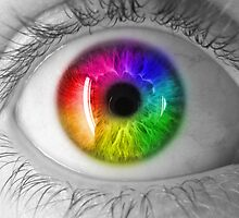 Rainbow Eye by SpaceDonutInc