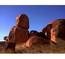 Late afternoon at The Devils Marbles Photographic Print