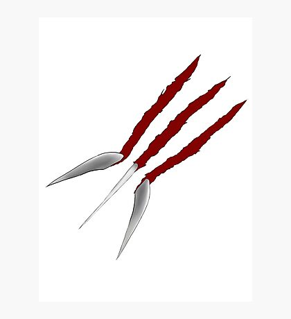 Wolverine Claws Photographic Print