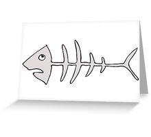 fishbones Greeting Card