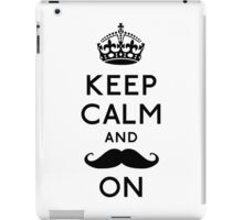Keep Calm and Moustache On iPad Case/Skin