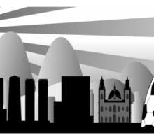 Rio skyline with ball Sticker