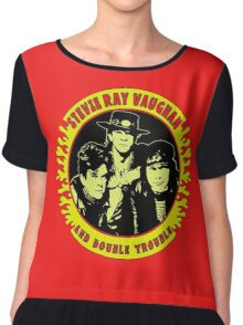 Stevie Ray Vaughan & Double Trouble Colour Chiffon Top