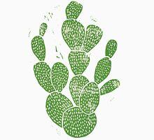 Linocut Cacti #1 Unisex T-Shirt