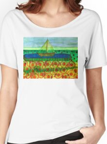 Sailing Ship in a Tin Women's Relaxed Fit T-Shirt