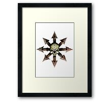 The Symbol of Chaos Framed Print