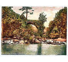 A digital painting of  Cromwell's Bridge, Glengariff. County Cork, Ireland 19th century Photographic Print
