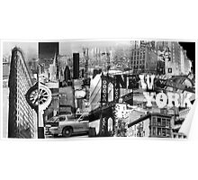 New York Collage I Poster