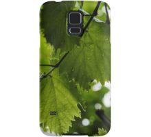 Green Summer Rain with Grape Leaves Samsung Galaxy Case/Skin