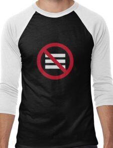 No Hamburger bar Men's Baseball ¾ T-Shirt