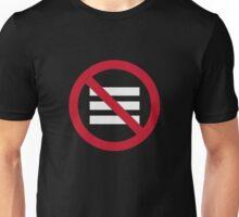No Hamburger bar Unisex T-Shirt