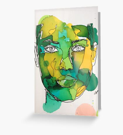 Ink Painting Greeting Card