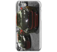 The Black and Red Fiesta (Lights Off) iPhone Case/Skin