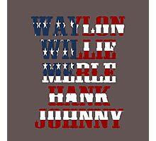 best Waylon Jennings Willie Nelson Merle Haggard Hank Williams Johnny Cash  Photographic Print