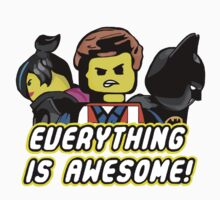 The Lego Movie - Everything is Awesome (Coloured) by seankumar