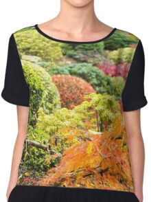Multicolored Plants - Nature Photography Chiffon Top