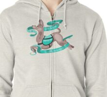 """Sassy Service Dogs   """"All Sizes, All Services"""" American Hairless Terrier Zipped Hoodie"""