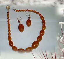 Amber, warm and powerful. Necklace by Maree  Clarkson