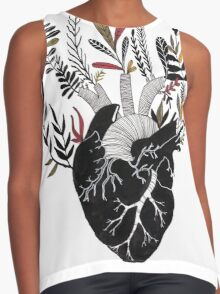 Floral Heart Contrast Tank