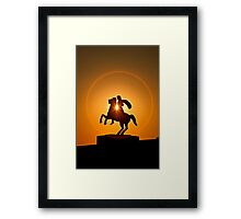 Alexandrer the Great in a circle of fire - Thessaloniki Framed Print